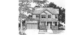 LEXINGTON 1819 1819 Square Feet 3 Bedrooms - 2.5 Baths 42' Wide - 43' Deep Option for third car tandem garage, alternate elevation