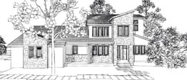 HATFIELD 3296   3 BEDROOMS - 2.5 BATHS  71' WIDE - 70' DEEP  MODERN OR CONTEMPORARY STYLE, 3 BEDROOM, MASTER BEDROOM ON MAIN, OPEN PLAN, OUTDOOR LIVING, SIDE ENTRY GARAGE