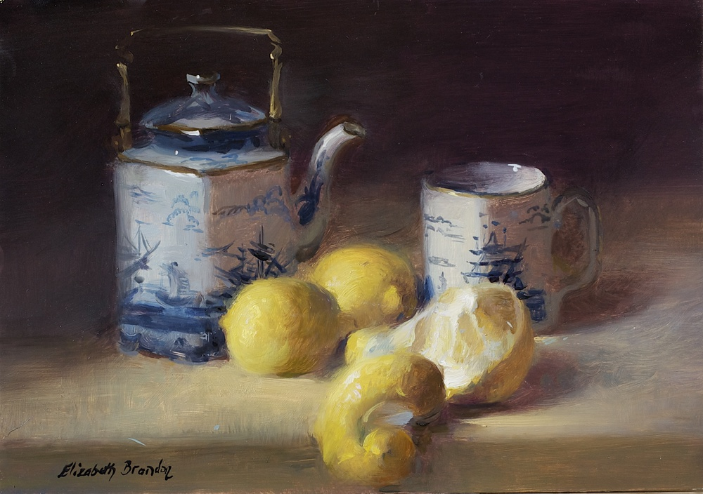Lemons and Tea Pot 7x10.jpg