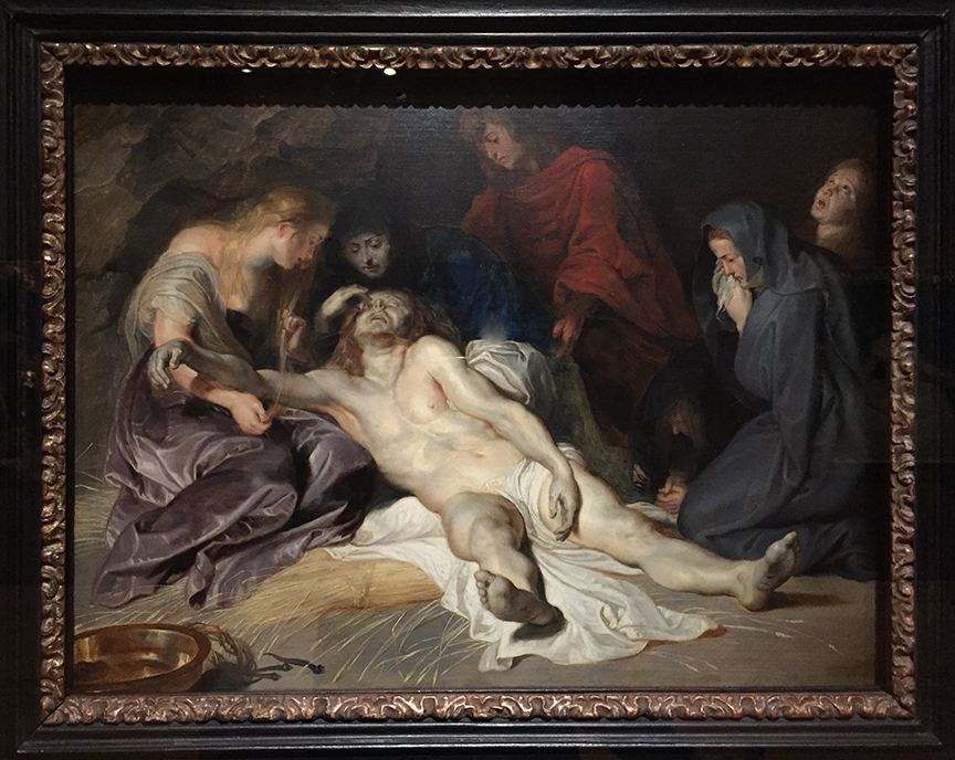 The Lamentation of Christ   by Peter Paul Rubens  Flemish  1577-1640 Kunsthistorisches Museum,Vienna, Austria