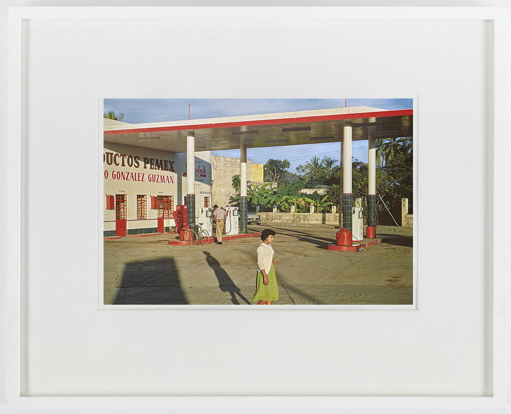 "Paul Outerbridge, Gas Station, Mazatlán, Mexico, c.1950 CarbroArt™ digital pigment transfer process, printed at Steidl in Göttingen, 2018,  Arches 88, 300 gsm 100% cotton acid-free paper, 16"" x 20"" framed Edition of 25"