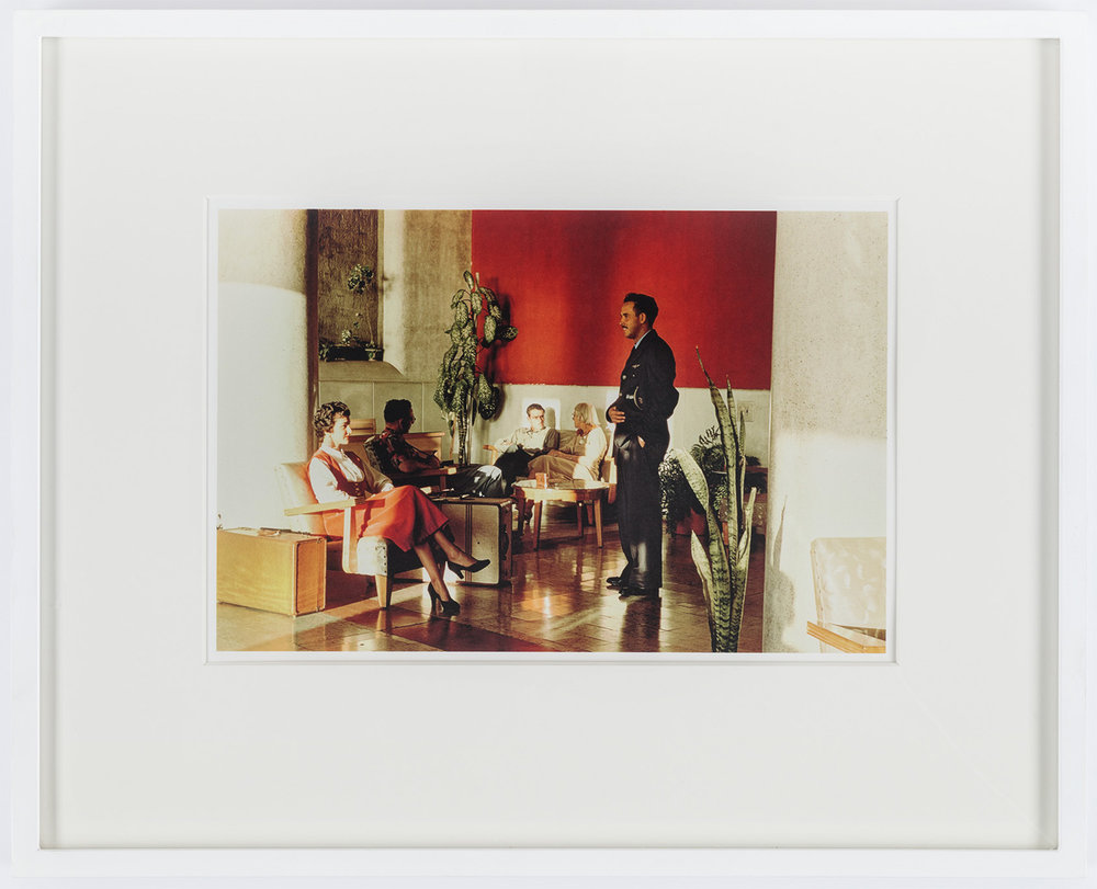 "Paul Outerbridge, Hotel Lobby, Mazatlán, Mexico, c.1950 CarbroArt™ digital pigment transfer process, printed at Steidl in Göttingen, 2018,  Arches 88, 300 gsm 100% cotton acid-free paper, 16"" x 20"" framed Edition of 25"