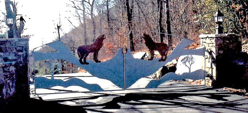 Wolf Gate for Private Residence 18 feet wide