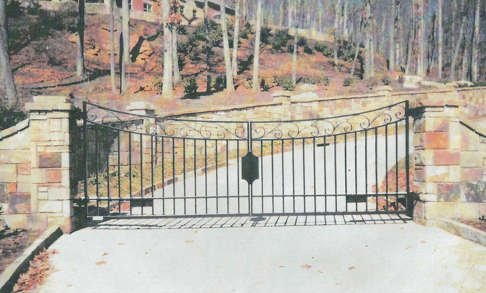 Private Residence Front Entrance Gate 16 feet wide