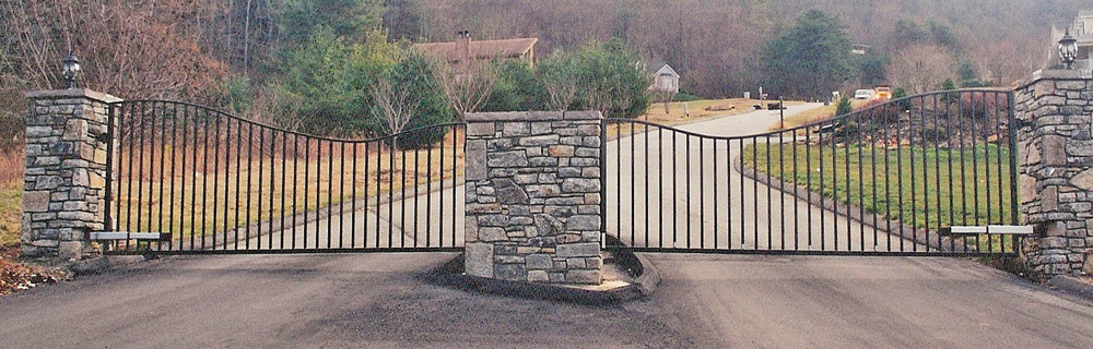 Gated Community Gate  20 feet wide/each section