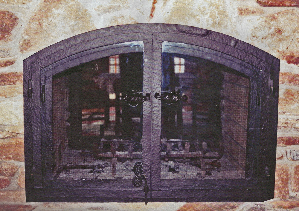 Fireplace Enclosure - Private Residence Hand Forged