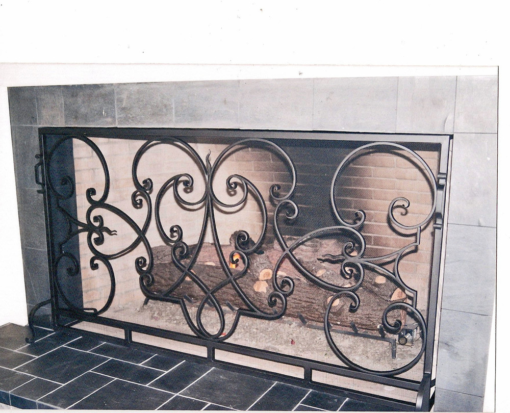 Fireplace Screen Biltmore Inn Hand Forged  6 ft wide by 54 inches tall