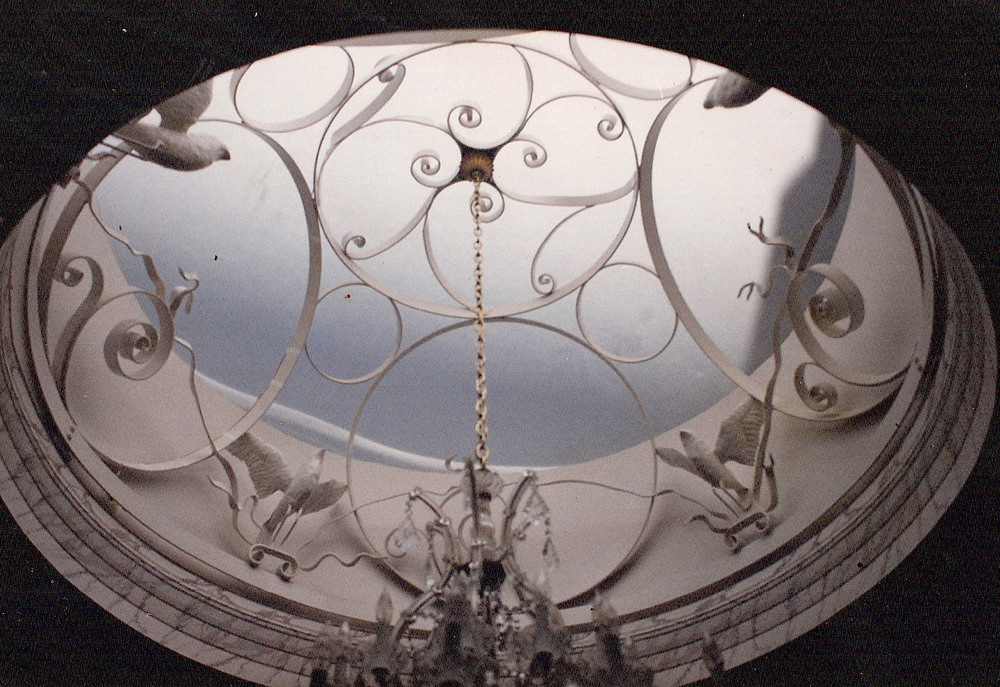 Hand Forged Skylight Insert  Commercial Building 9 foot diameter