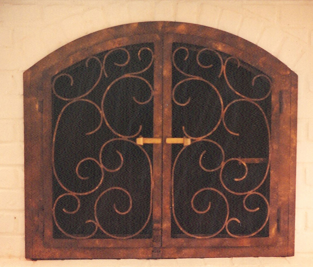 Custom Forged Fireplace Screen