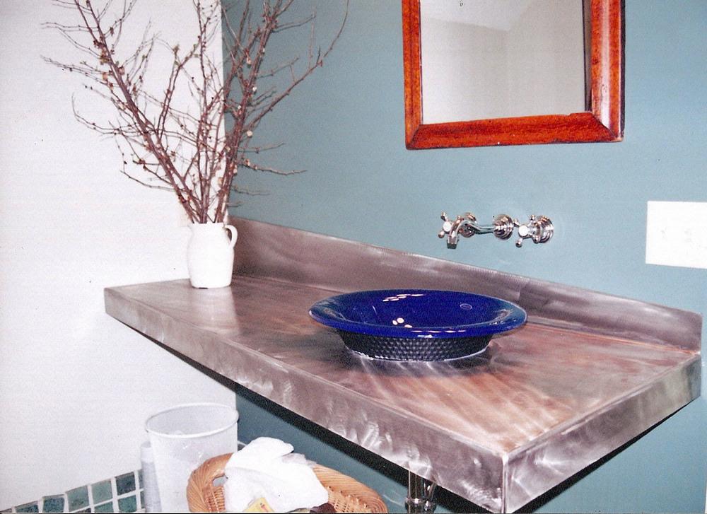 Stainless Steel Vanity Countertop
