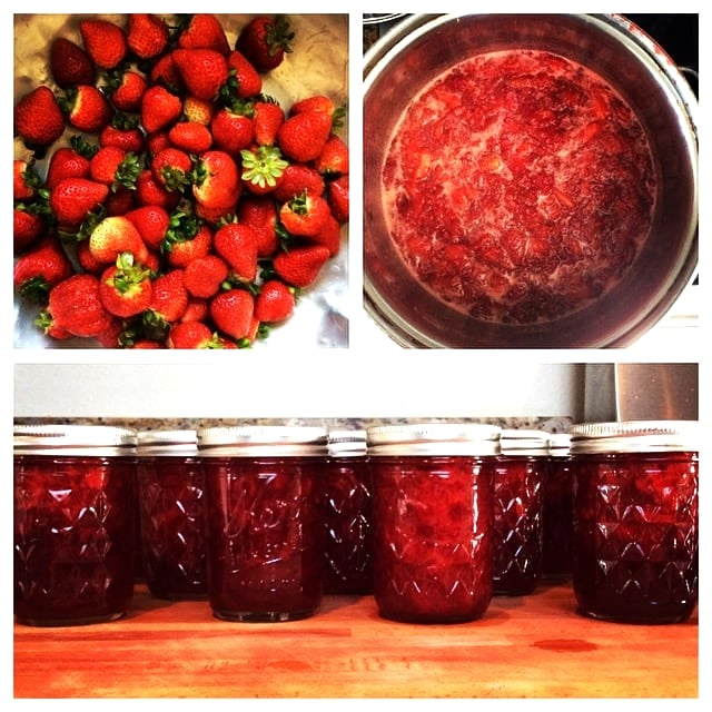 Driving through Oxnard means fresh strawberries. My first strawberry jam.