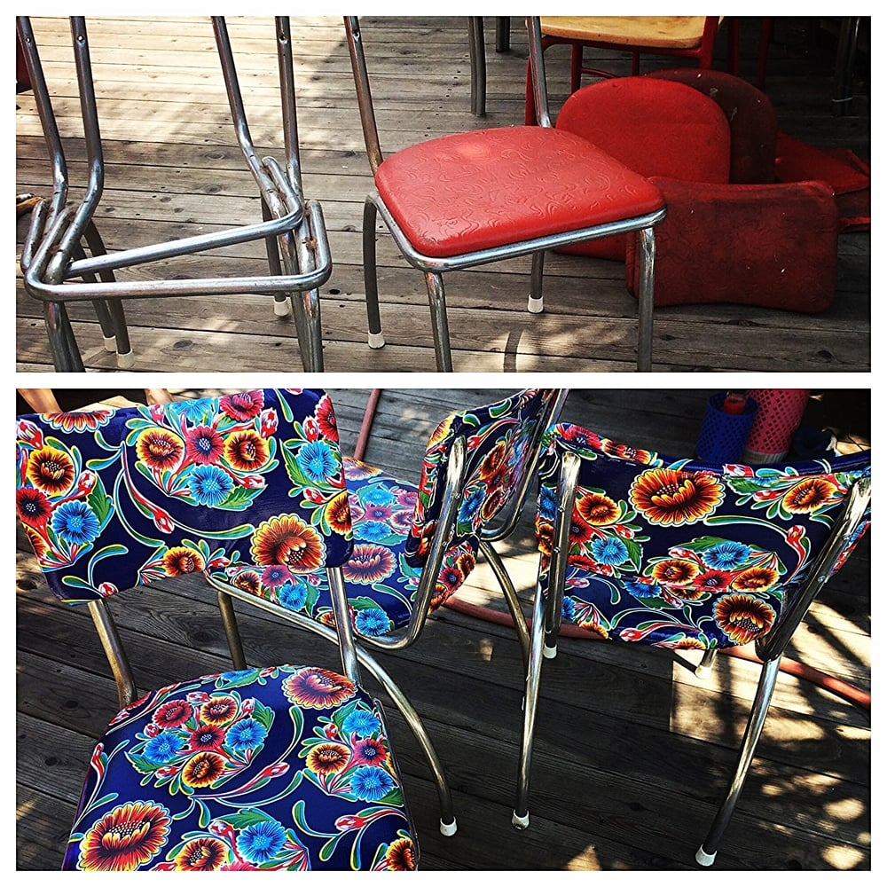 The Howell chairs, before and after.