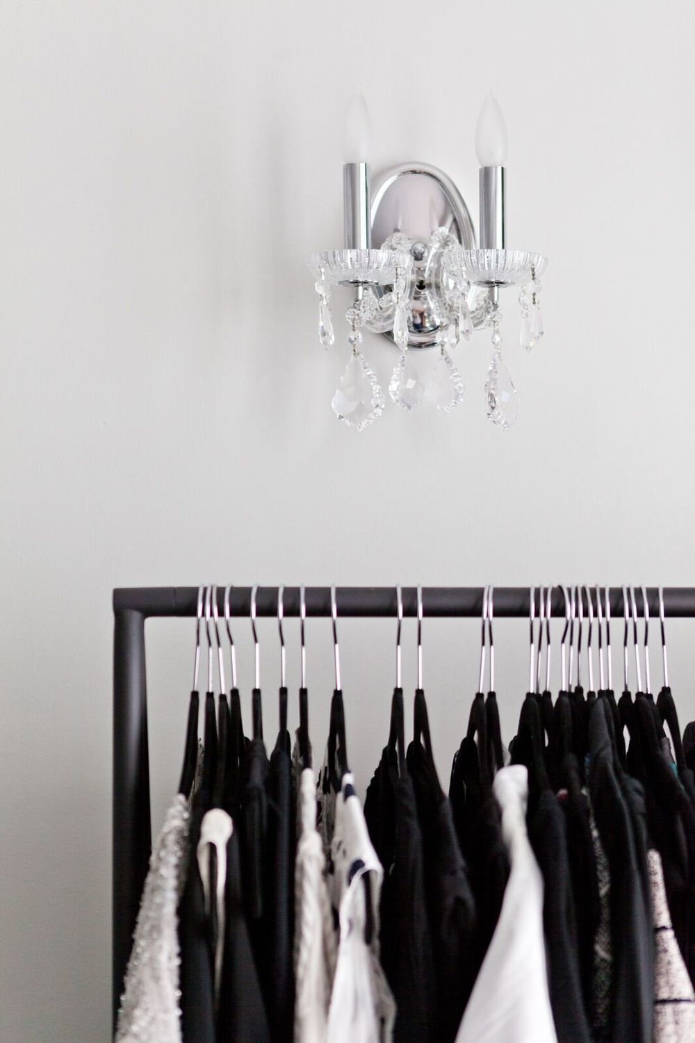 Sparky sconces light the the way to the perfect outfit.