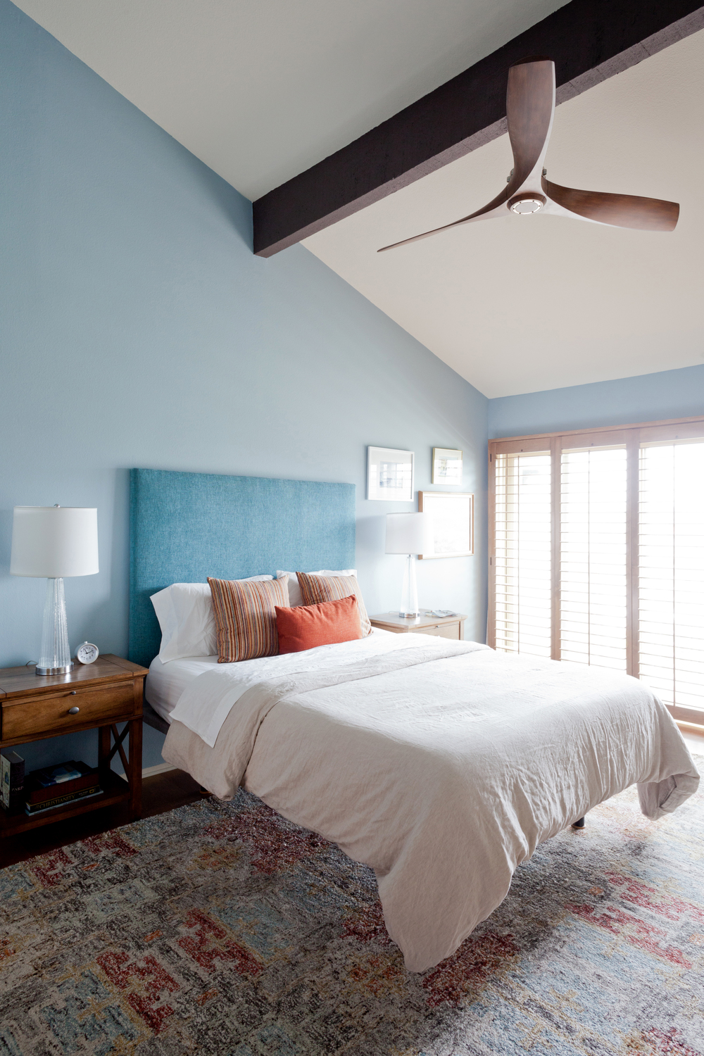 The beam and the gorgeous ceiling fan.                                                                                                                                        photo by Amy Bartlam