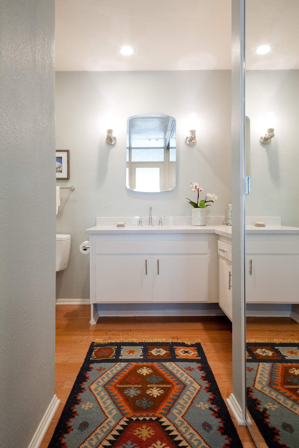The bathroom after. photo by Amy Bartlam