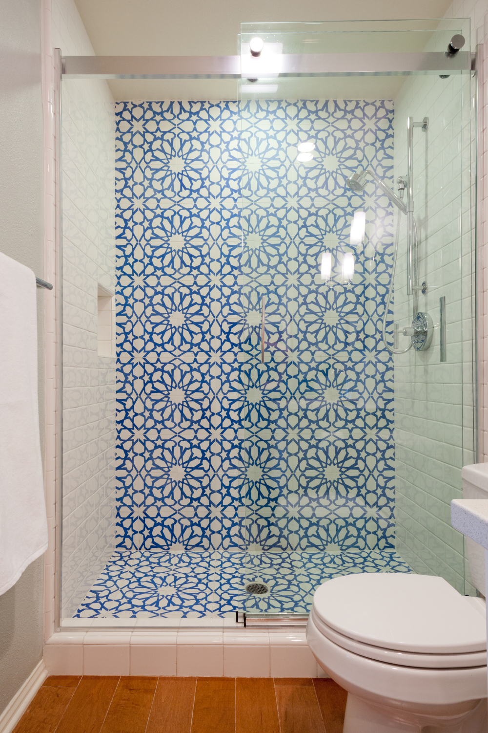 The shower after. Quite a difference.                                                                                                                                              photo by Amy Bartlam