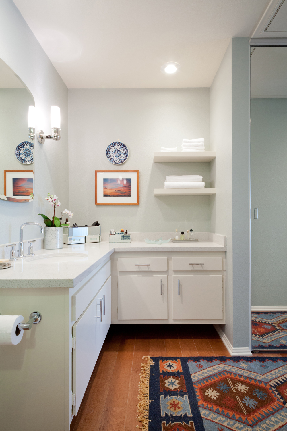 The vanilty after. The inspiration piece for the bathroom design. photo by Amy Bartlam