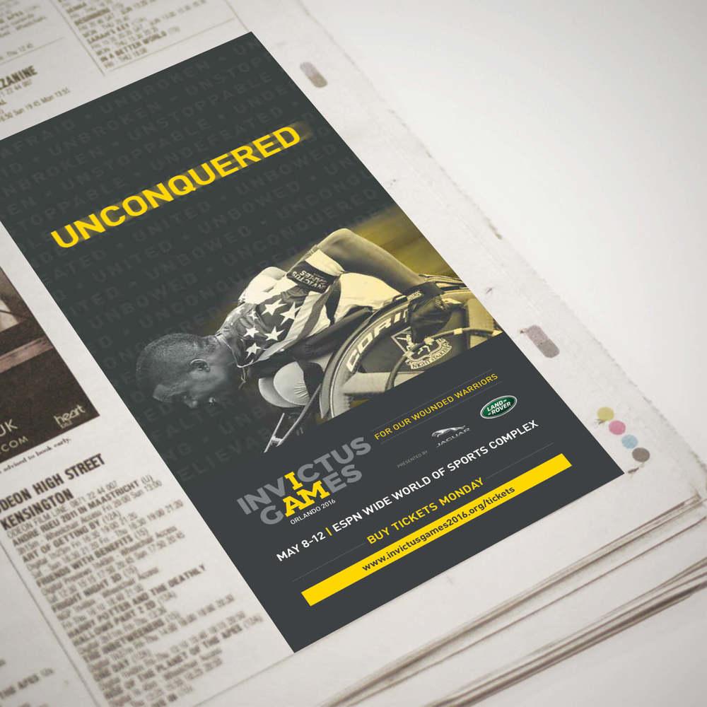 Invictus Games Unconquered Newspaper Ad.jpg