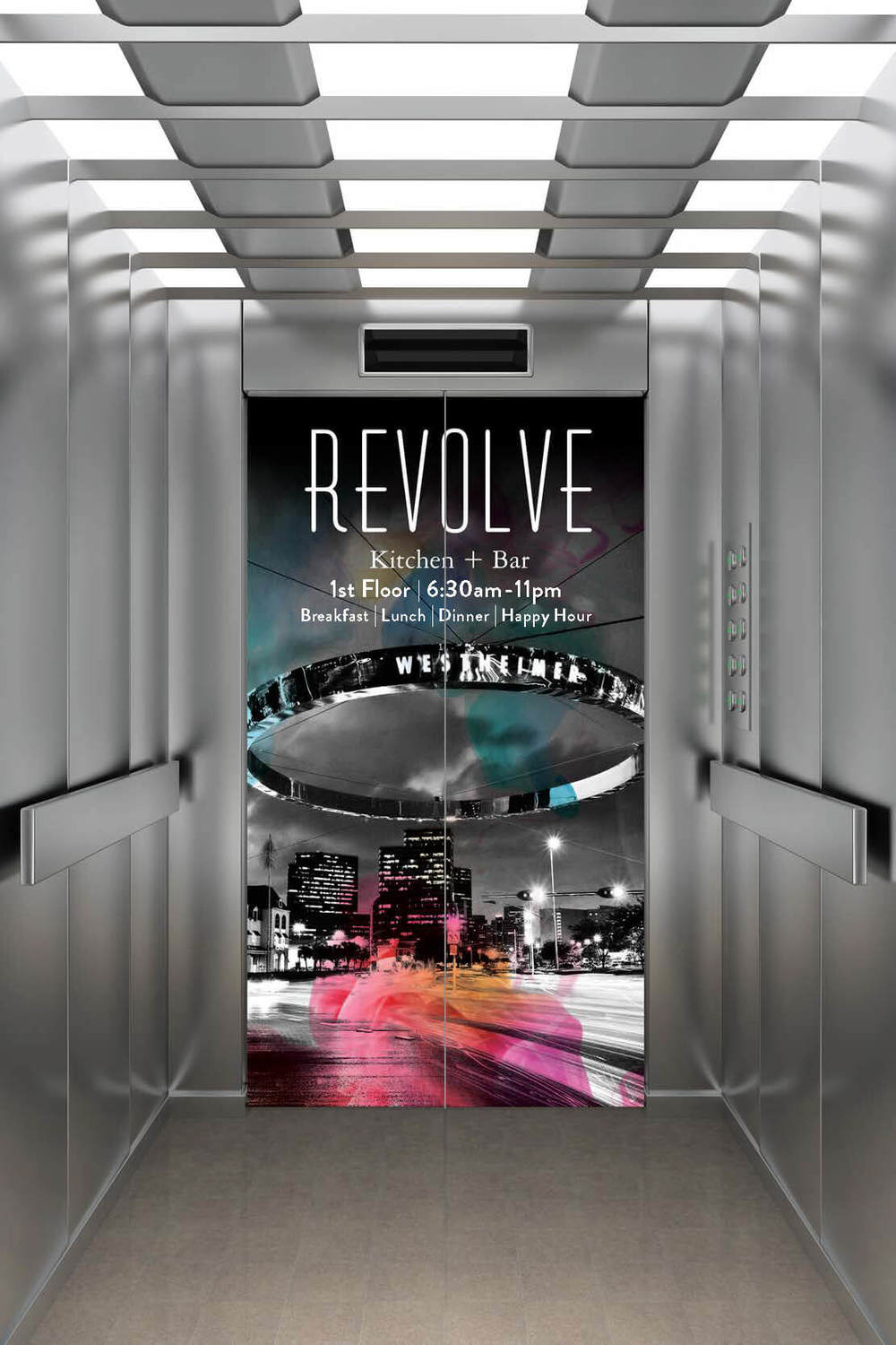 Hotel Derek Revolve Restaurant and Bar Elevator Skin.jpg