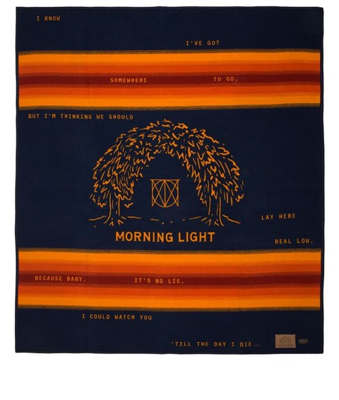 "Collaboration with Pendleton for the ""Morning Light"" blanket."