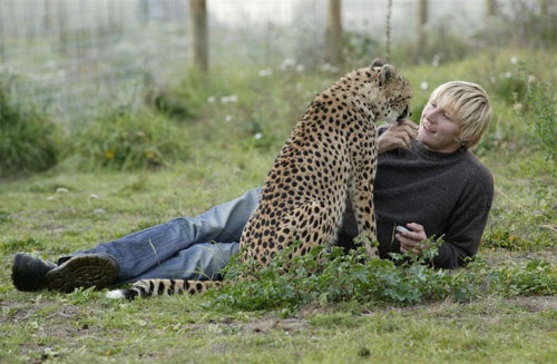 Mat and Jula the Cheetah