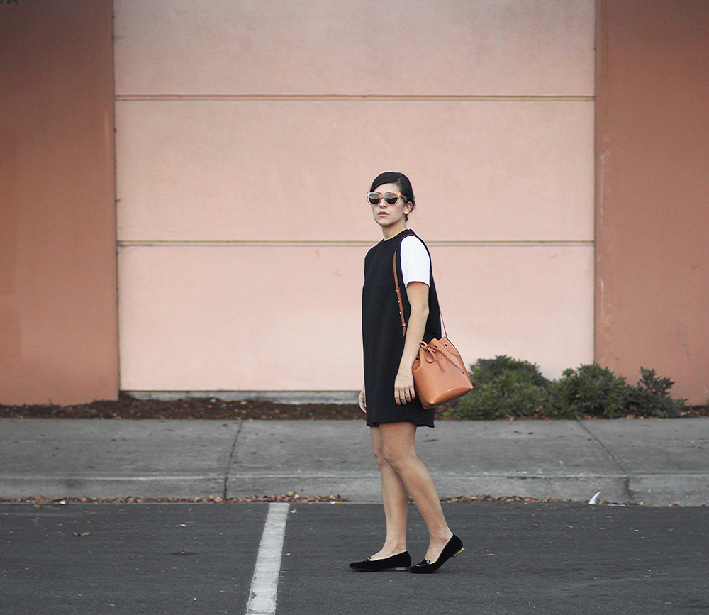 Mansur Gavriel, Céline sunglasses, Kaarem dress