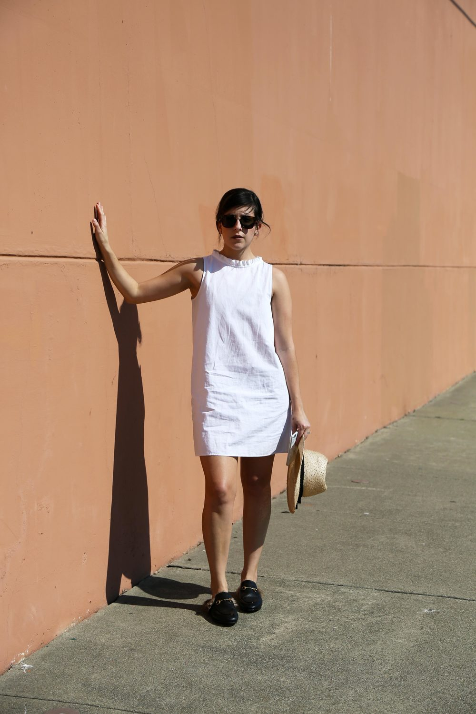Olga Montserrat, Gucci Princetown loafers, Atlantique Ascoli dress | twelveofour.com