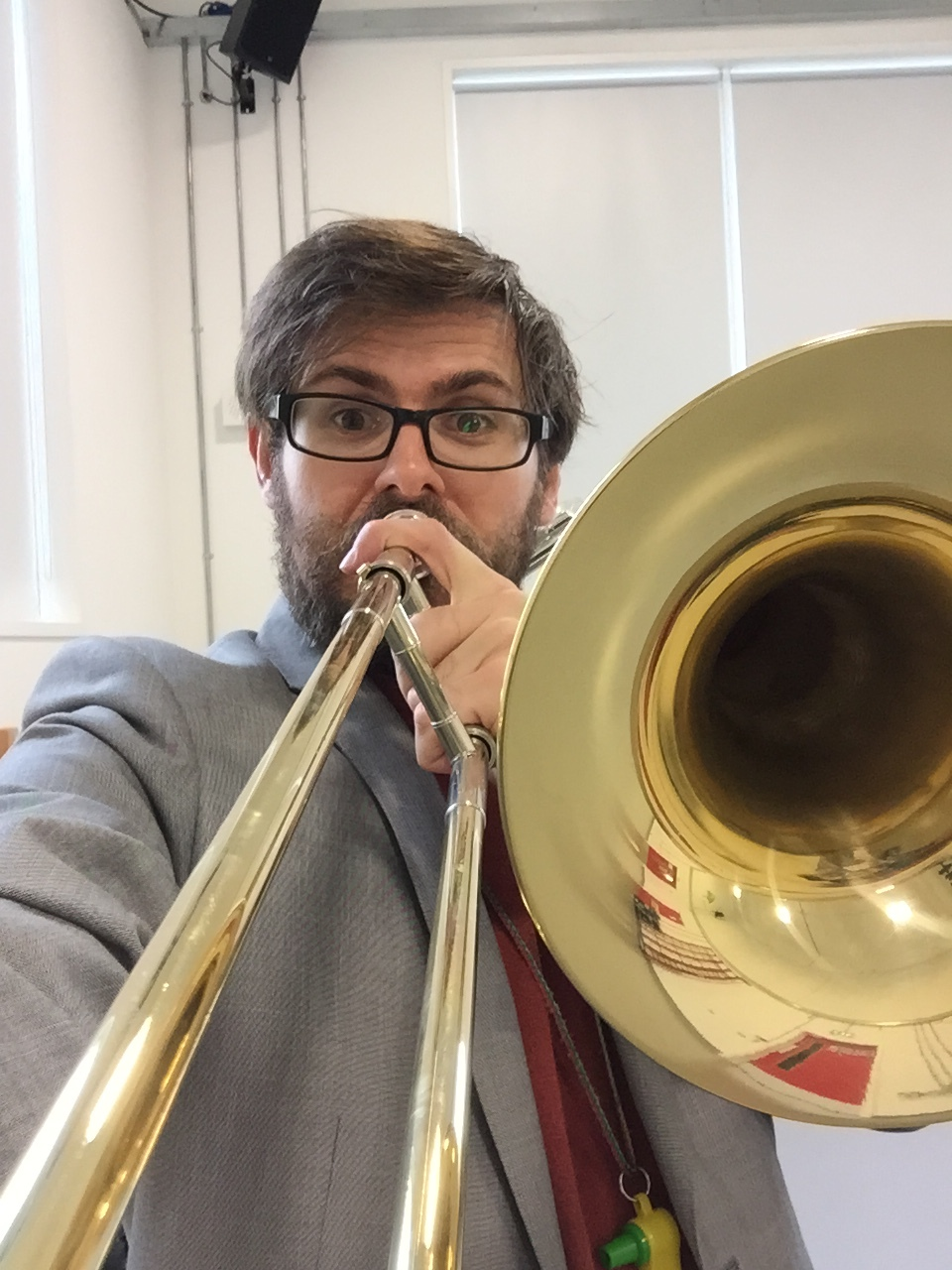 Scott Bramley teaching trombone