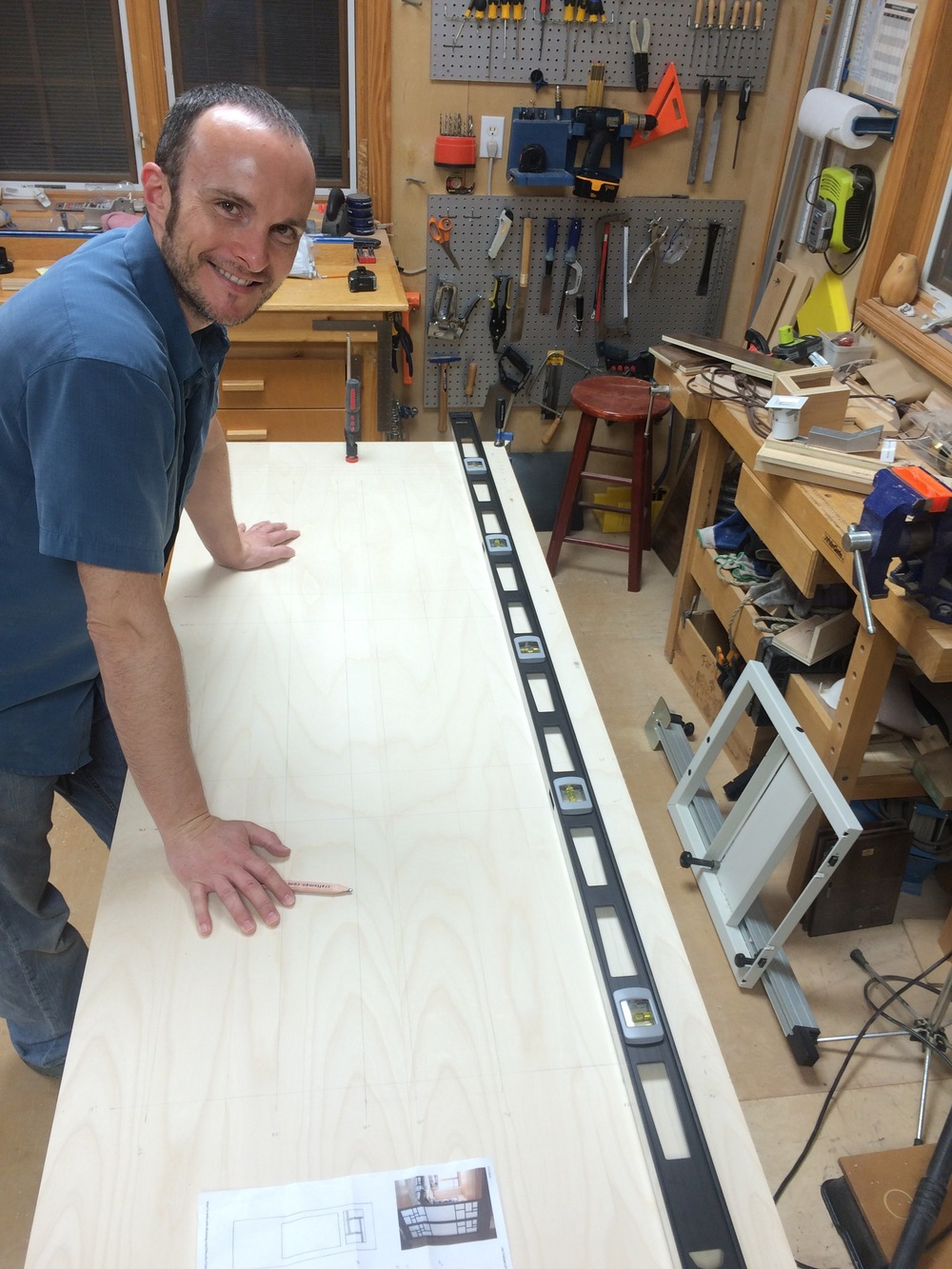 Shoji door purebond plywood-1a