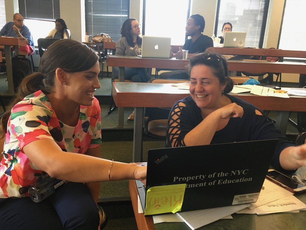 Dina works with MC Summer Institute participants to infuse culturally responsive practices into their own classrooms.