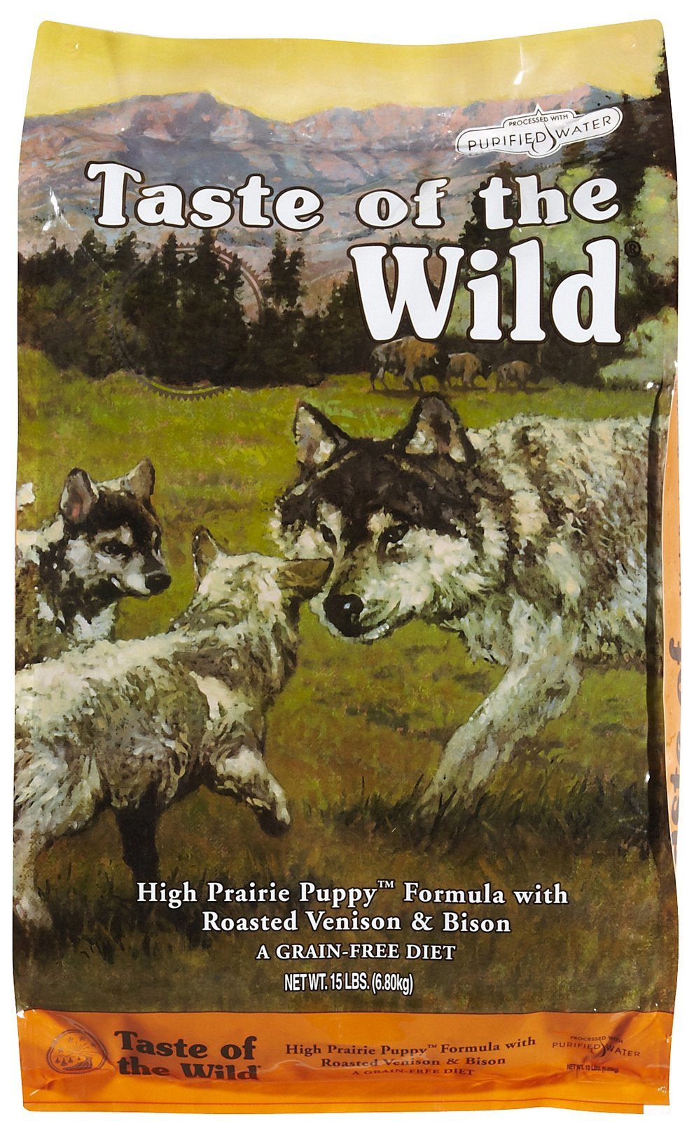 Taste Of The Wild High Prairie Puppy (sorry, what an ugly bag, but it's a great puppy food!)