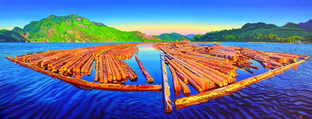 Isle of Mirrors    25 x 66    acrylic on canvas