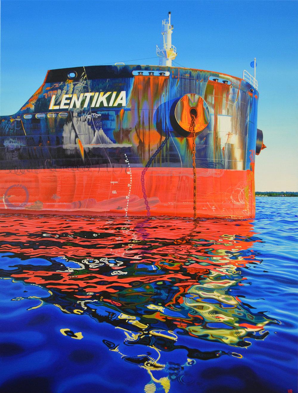Lentikia    37 x 49    acrylic on canvas