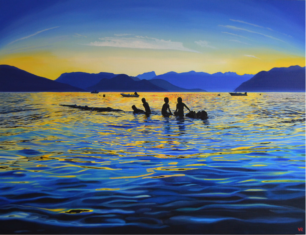 Howe Sound Childhood    36 x 48    acrylic on canvas