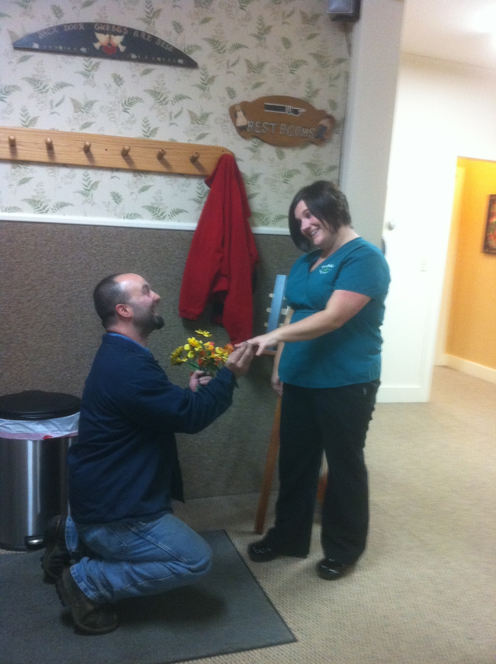 anything can happen at fiddlehead!.. several years ago, one of our team members was surprised by a proposal of marriage in our waiting room!  now the happy couple has 3 children!