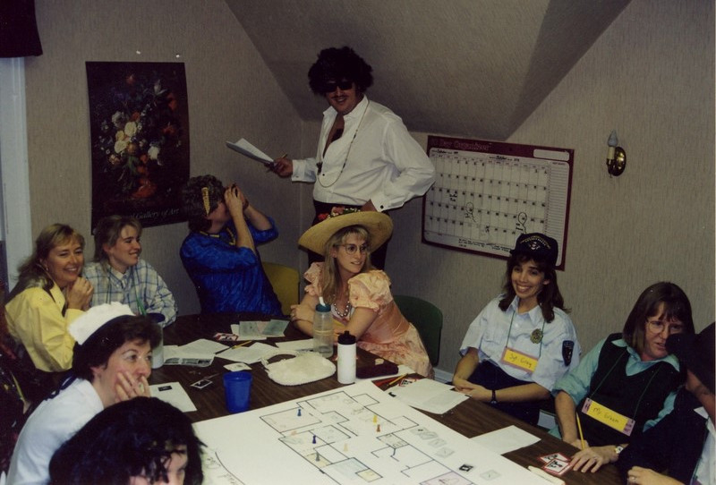 "We don't just have an ordinary osha review meeting... we came in full costumes from the ""clue"" game and played clue for an afternoon while answering osha questions."