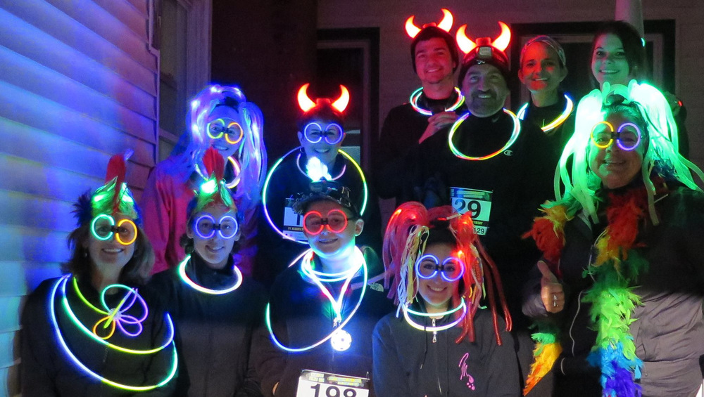 "our team Wins the ""best dressed"" category at the annual st. albans glow run!"