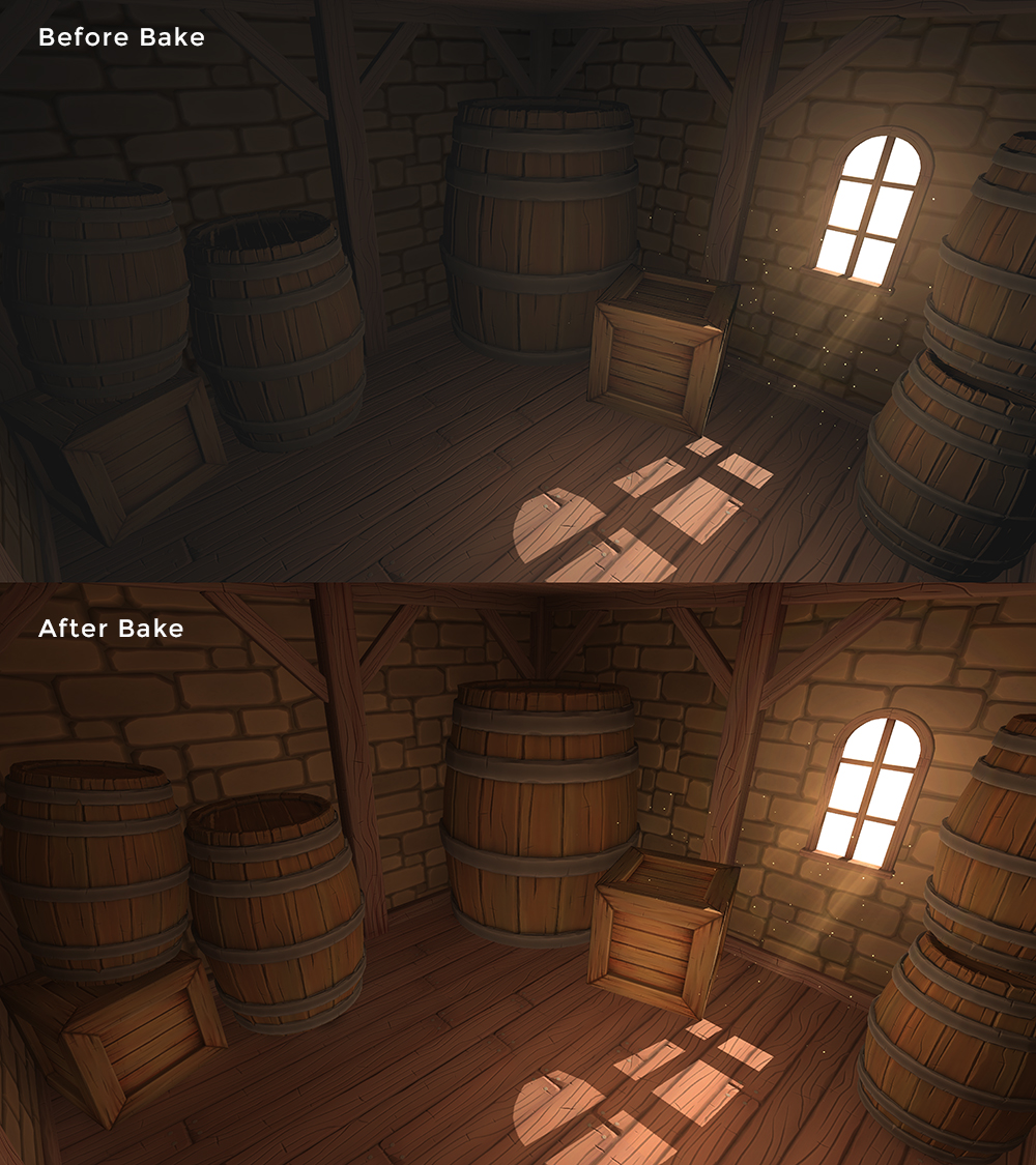 I should point out that to fully flesh out the room I put a point light in the center with no shadows applied.