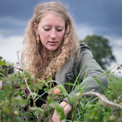 Albane picking raspberries © Graham Dew 2012