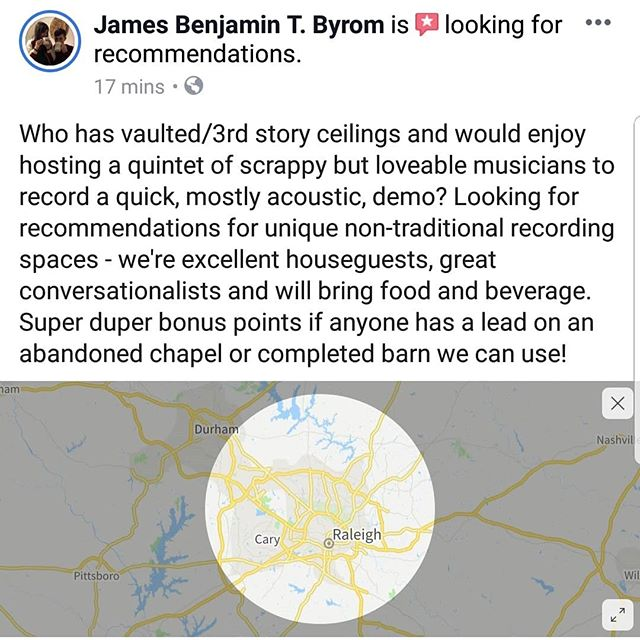 Spreading the word . #HomeRecording #Home #House #VaultedCeiling #3rdStoryCeiling #ThirdStoryCeiling #Ceiling #Recommended #Unique #Recording #RecordingStudio #Chapel #Barn #OpenSpace #LiveRecording #Circle #DapperConspiracy #Folk #Acoustic #SemiAcoustic #RoundUp #Demo #HomeDemo #SouthernRock #SouthernGothic #Newgrass #GrassRock #NewMusic #TheDapperConspiracy