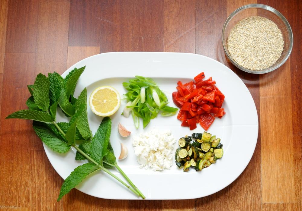 Mediterranean Roasted Veggie Quinoa Salad