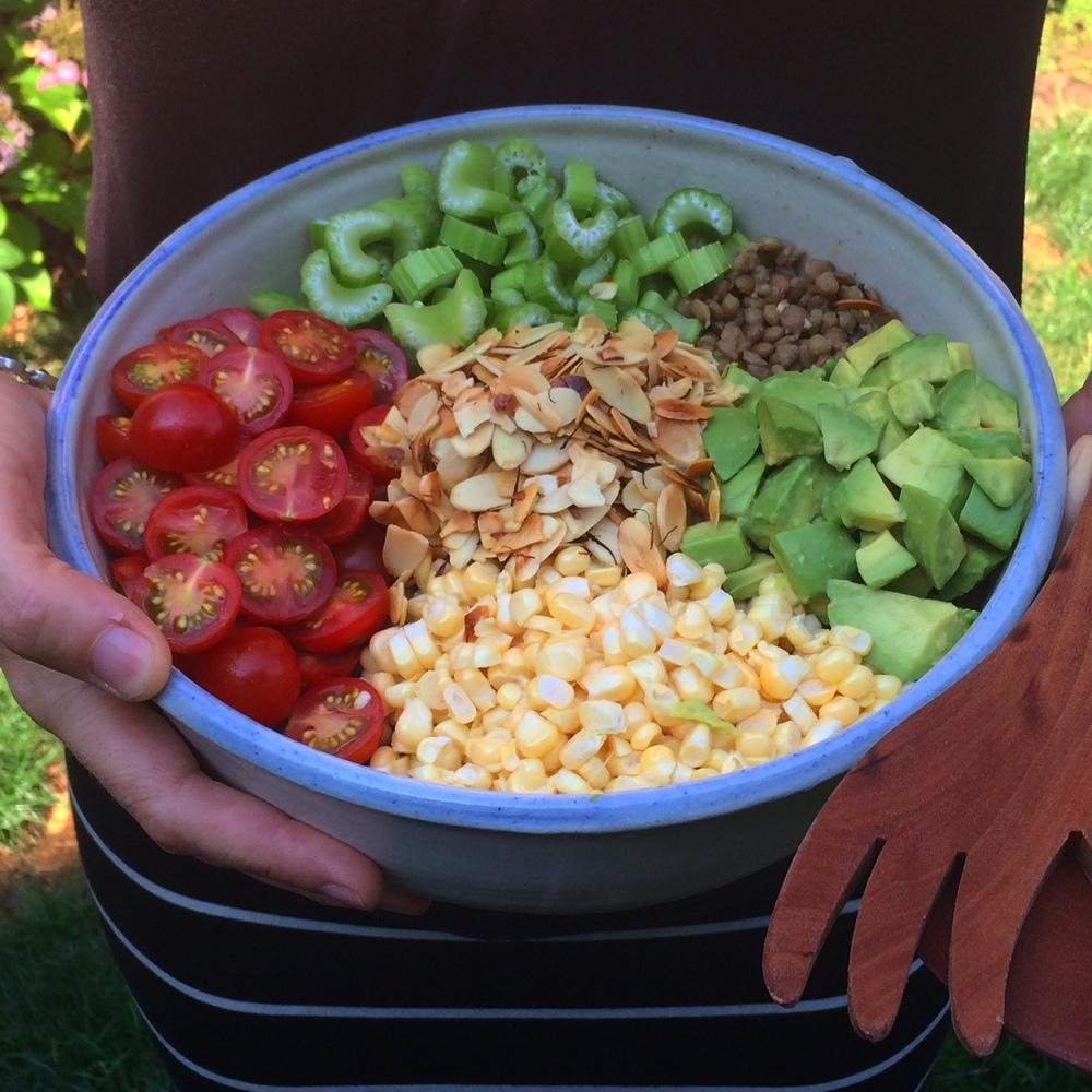 Crunchy Summer Veggie Lentil Salad