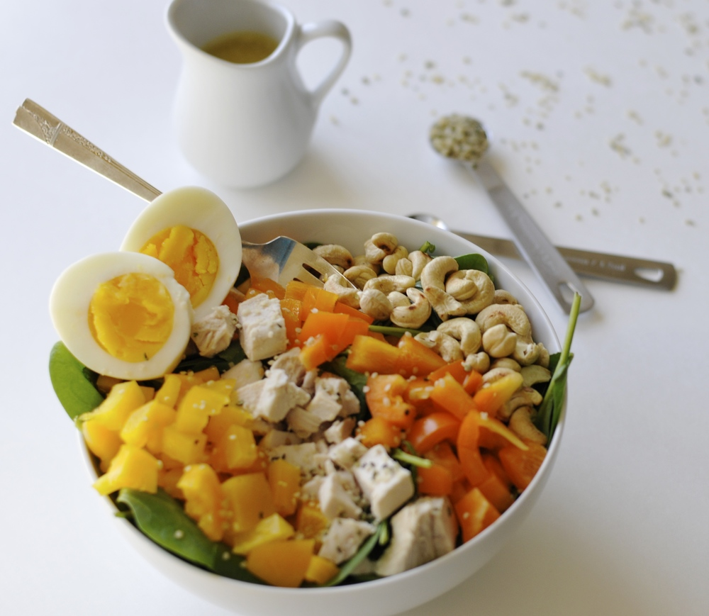 Power Protein Salad with Maple Dijon Dressing