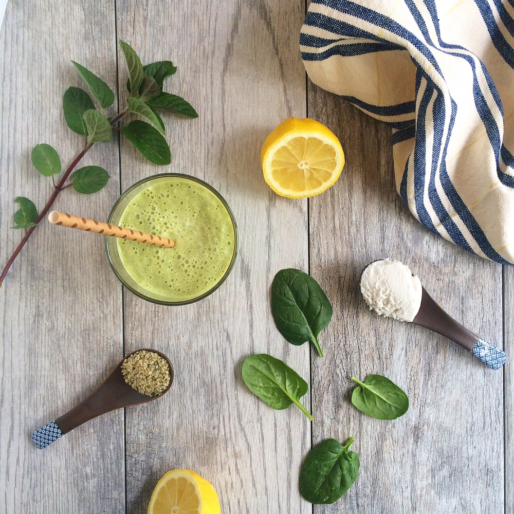 Spring mint green smoothie