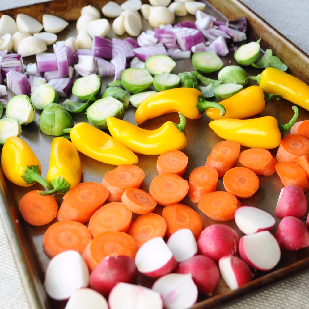 Rainbow Roasted Veggies