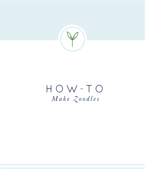 How-To Make Zoodles #zoodles