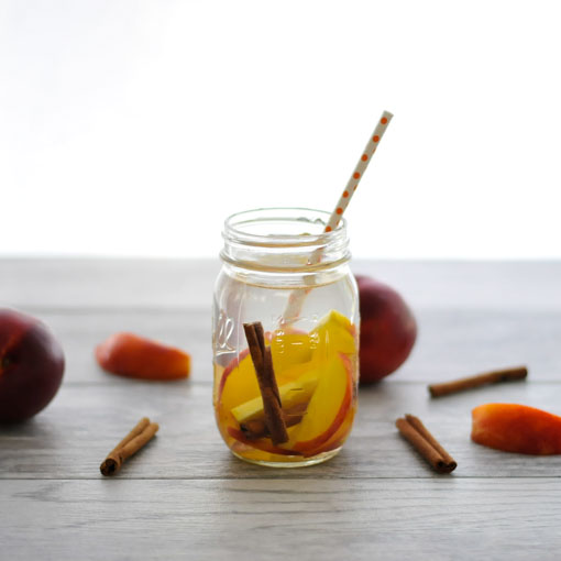 Nectarine Cinnamon Infused Water realfoodwholelife.com