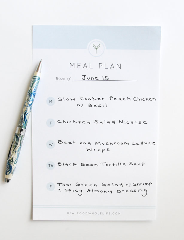 Healthy Weekly Meal Plan #glutenfree #dairyfree