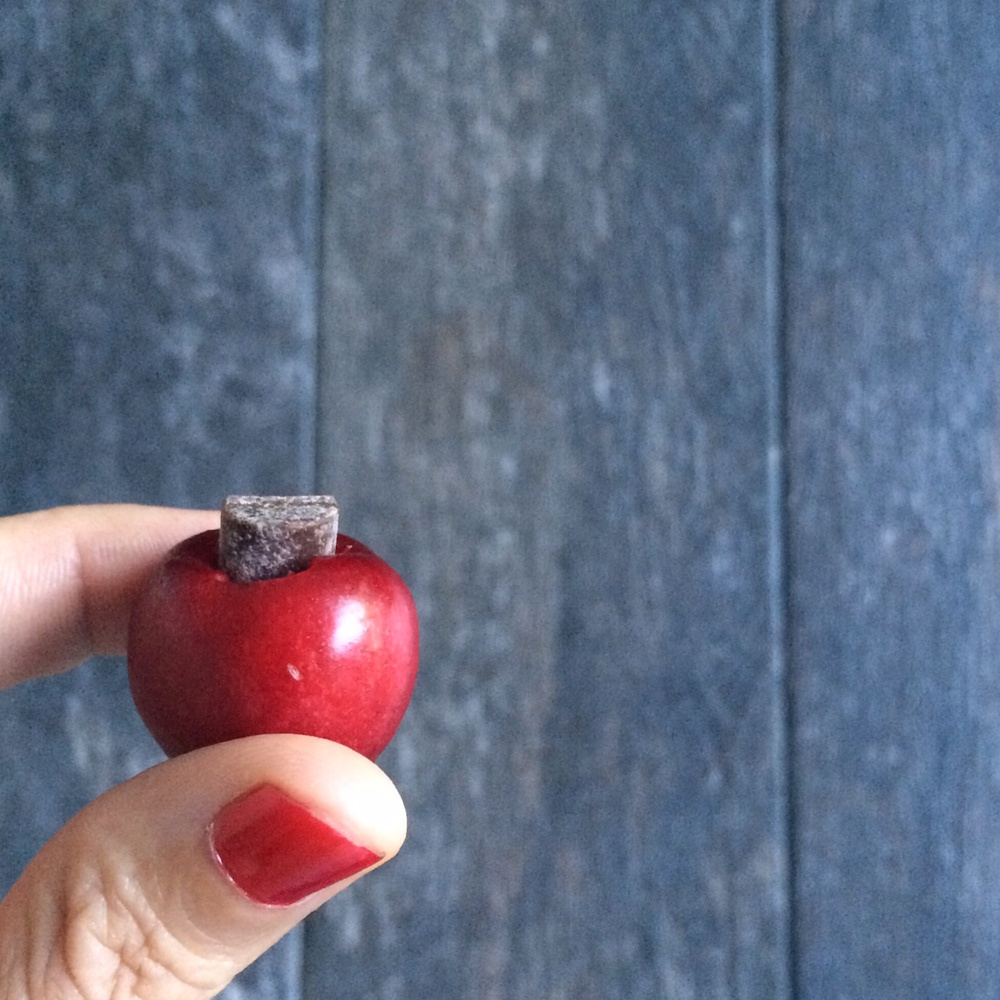 Cherry Covered Chocolate. The perfect healthy snack via realfoodwholelife.com