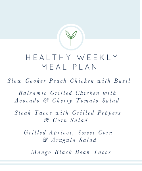 Healthy Weekly Meal Plan from realfoodwholelife.com #easy #glutenfree #dairyfree #healthy